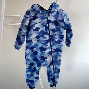L.L. Bean fleece baby bunting